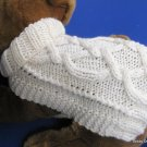 Dog Sweater Knitting Pattern EASY PDF Aran Pretzel Twist
