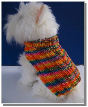 Basic Ribbed Sweater Knitting pattern Very Easy to Knit PDF Celtic Doggie Design