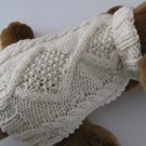 Diamond Back Aran dog sweater knitting pattern PDF