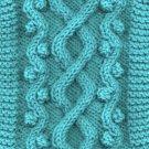 Wandering Path Cable Dog Sweater Knitting pattern PDF
