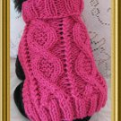 Entwined Paths Dog sweater knitting pattern