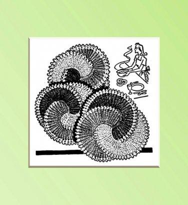 Swirl Design Potholder Hot Pad Vintage Crochet pattern 1948 PDF