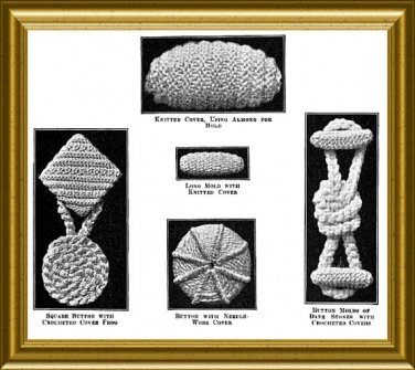 Vintage Crochet Buttons Pattern from 1915 PDF
