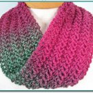 Infinity or Moebius Knit Lace Scarf knitting pattern Easy for beginner lace project PDF