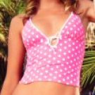 0648SM-61009/S: Reverse Polka Dot Tankini with Tie Sides Bottom, Small