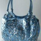 0530HB-10546: Metallic Handbag with Studded Front and Multiple Pockets