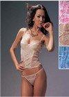 """LM144: """"La Mariposa"""" Sequin Lace Bustier Stes. 6 sets"""