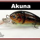 "[BP 107-88]3.4"""" Holographic Dirty Bass Pike Trout Fishing Lure Tackle"