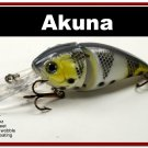 "[BP 107-96]3.4"""" White Bass Pike Trout Fishing Lure Crankbait Tackle"