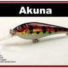 "[BP 118-81]3.5"""" Holographic Red Leopard Bass Pike Trout Fishing Lure Crankbait Tackle"