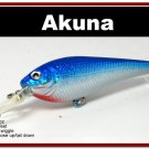 "[BP 118-83]3.5"""" Holographic Blue Bass Pike Trout Fishing Lure Bait"