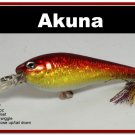 "[BP 118-84]3.5"""" Holographic Red Bass Pike Trout Fishing Lure Bait"