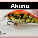 "[BP 131-78]2.9"""" Tiger Orange Bass Pike Trout Fishing Lure Crankbait Tackle"