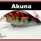 "[BP 131-81]2.9"""" Holographic Red Leopard Bass Pike Trout Fishing Lure Crankbait Tackle"