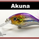 "[BP 131-82]2.9"""" Holographic Fuchsia Bass Pike Trout Fishing Lure Crankbait Tackle"