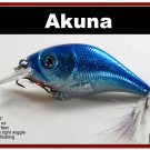 """[BP 131-83]2.9"""""""" Holographic Neon Shad Bass Pike Trout Fishing Lure"""