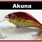 "[BP 131-84]2.9"""" Holographic Red Bass Pike Trout Fishing Lure Bait"