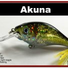 "[BP 131-85]2.9"""" Holographic Gold Bass Pike Trout Fishing Lure Bait"