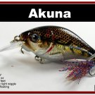 "[BP 131-88]2.9"""" New Holographic Brown Bass Pike Trout Fishing Lure"