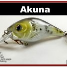 "[BP 131-96]2.9"""" New White Bass Pike Trout Fishing Lure Bait Tackle"