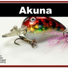 "[BP 132-81]2.3"""" Holographic Red Leopard Bass Pike Trout Fishing Lure Bait"