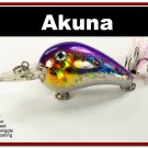 "[BP 132-82]2.3"""" Holographic Fuchsia Bass Pike Trout Fishing Lure Bait"