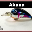 "[BP 132-89]2.3"""" Metallic Blue Shad Bass Pike Trout Fishing Lure Bait"