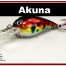"[BP 133-81]2.3"""" Holographic Red Leopard Bass Pike Trout Fishing Lure Bait"