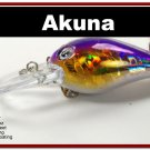 "[BP 133-82]2.3"""" Holographic Fuchsia Bass Pike Trout Fishing Lure Bait"
