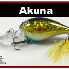 """[BP 133-85]2.3"""""""" Holographic Black Gold Bass Pike Trout Fishing Lure Bait"""