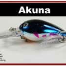 "[BP 133-89]2.3"""" Metallic Blue Shad Bass Pike Trout Fishing Lure Bait"