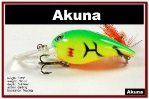 "[BP 133-98]2.3"""" Firetiger Bass Pike Trout Fishing Lure Bait"