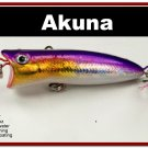 "[BP 147-82]2.2"""" Holographic Fuchsia Bass Trout Topwater Fishing Lure Popper"