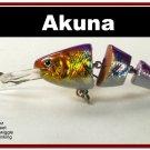 """[BP 20-82]3.5"""""""" Holographic Fuchsia Bass Fishing Lure Swimbait"""