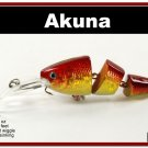 "[BP 20-84]3.5"""" Holographic Red Bass Trout Fishing Lure Swimbait"