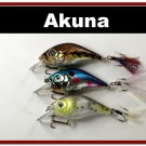 "[BP 3 FLA 131 B]Lot of 3 2.9"""" Bass Pike Trout Fishing Lure Bait Tackle"
