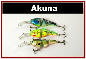 [BP 3 FLA 20 A]Lot of 3 Bass Trout Pike Fishing Lure Swimbait Tackle