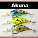"[BP 3 FLA 55 A]Lot of 3 Deep Diver 4.3"""" Bass Pike Fishing Lure Bait A"