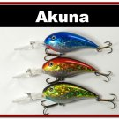 "[BP 3 FLA 55 C]Lot of 3 Deep Diver 4.3"""" Bass Pike Fishing Lure Bait C"