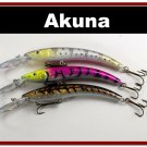 "[BP 3 FLA 82 C]Lot of 3 5.9"""" Deep Diving Pike Bass Fishing Lure Bait C"