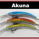 "[BP 3 FLA 82 D]Lot of 3 5.9"""" Deep Diving Pike Bass Fishing Lure Bait D"