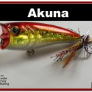 "[BP 48-84]2.4"""" Holographic Red Bass Topwater Fishing Lure Popper"