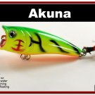 "[BP 48-98]2.4"""" Firetiger Bass Trout Topwater Fishing Lure Popper"