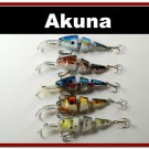 [BP 5 FLA 20]Lot of 5 Bass Trout Pike Fishing Lure Swimbait Tackle - great for gifts