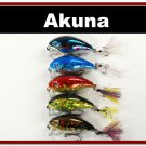 "[BP 5 FLA 52]Lot of 5 2.2"""" Bass Pike Trout Fishing Lure Bait Tackle"