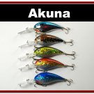 "[BP 5 FLA 55]Lot of 5 Deep Diver 4.3"""" Bass Pike Fishing Lure Tackle"