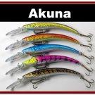 "[BP 5 FLA 82 B]Lot of 5 5.9"""" Deep Diving Pike Bass Fishing Lure Bait B"