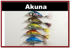 """[BP 5 LKA 31]Lot of 5 2.9"""""""" Bass Pike Trout Fishing Lure Bait Tackle"""