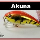 "[BP 52-78]2.2"""" Tiger Orange Bass Pike Trout Fishing Lure Crankbait"