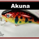 "[BP 52-81]2.2"""" Holographic Red Leopard Bass Pike Trout Fishing Lure Crankbait"